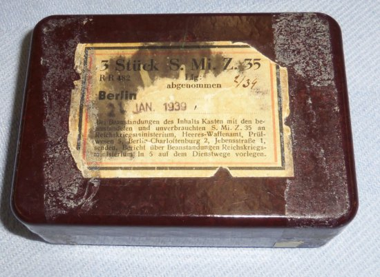 Scarce WW2 German S. Mi. Z. 35 Bakelite Fuse Box
