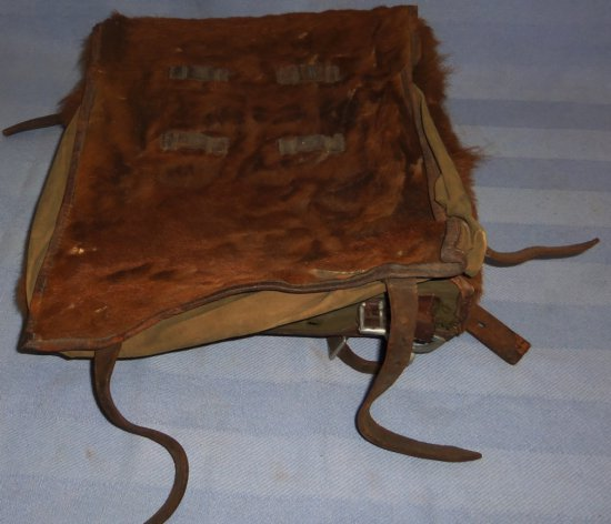 WWII German Soldier Horse Hair Back Pack