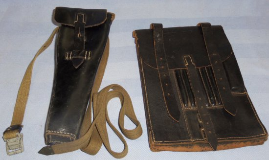 2 pcs - WWII German Map Case/Instrument Case