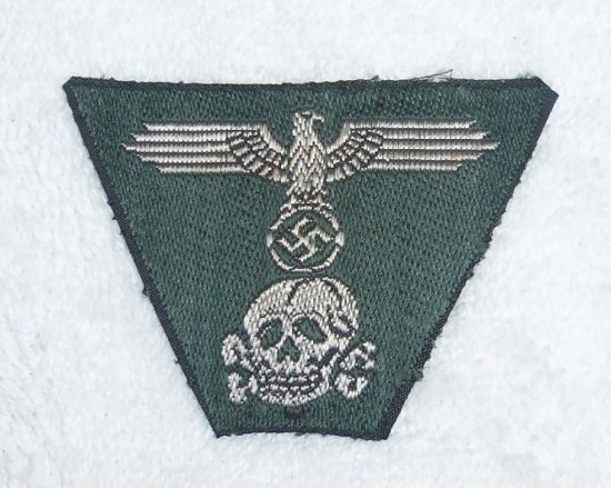 Waffen SS Trapezoid Insignia for the Green M43 Cap - Cap Removed