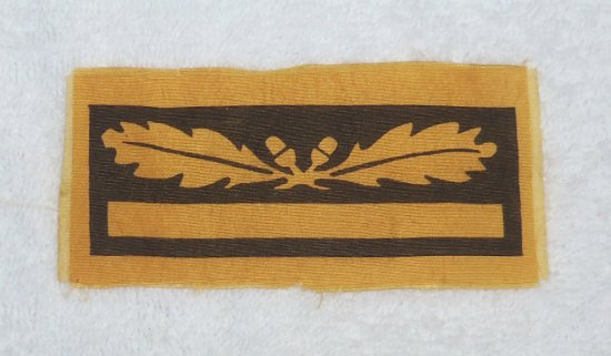 Rare Waffen SS Brigadfuhrer/Generalmajor Sleeve Rank Sleeve Insignia - Printed Variant