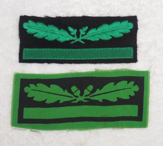 2 pcs. - Sleeve Rank Insignia for Waffen SS Untersturmfuhrer