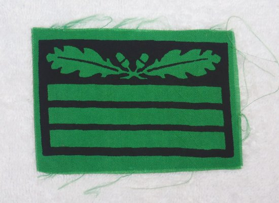 Scarce Waffen SS Sleeve Rank for SS-Hauptsturmfuhrer - Printed Version