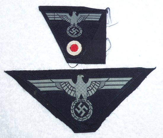 2 pcs. - Army Panzer Cap/Breast Insignia