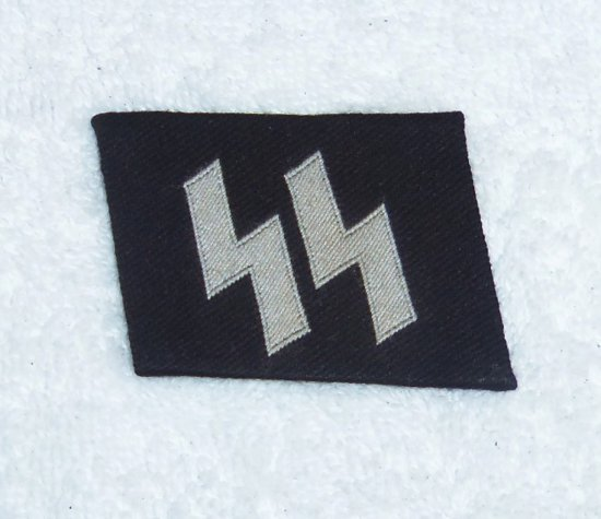 Waffen SS EM/NCO Runic Collar Tab - Bevo