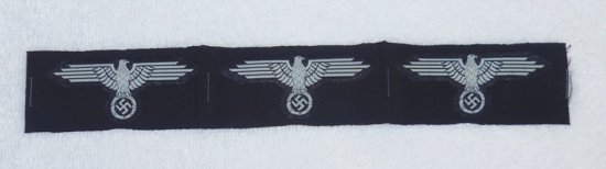 Uncut Strip Waffen SS M43 Cap Eagles