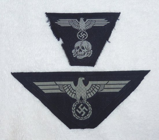 2 pcs. - SS Panzer M43 Cap/Breast Eagle Insignia