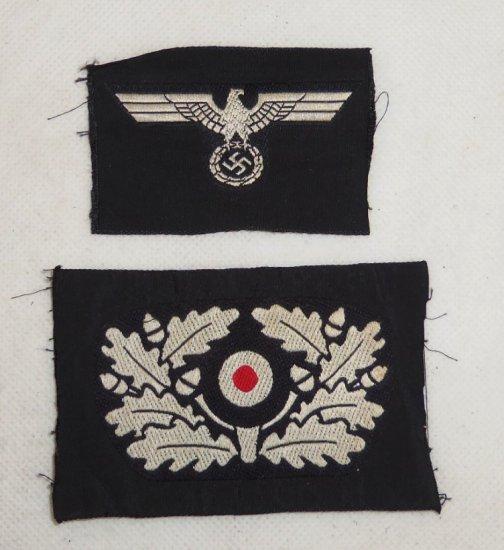 2 pcs. WW2 German Panzer Cap Insignia