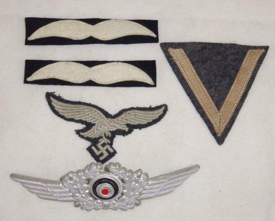 5 pcs.  WWII Luftwaffe Insignia