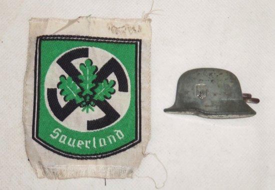 2 pcs. WWII German Freikorps/Sauerland Insignia