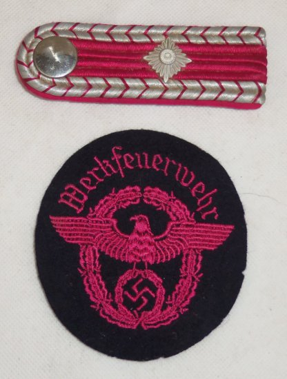 2 pcs. WWII German Fire Police Insignia