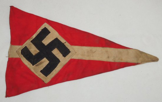 Hitler Youth Bicycle Pennant