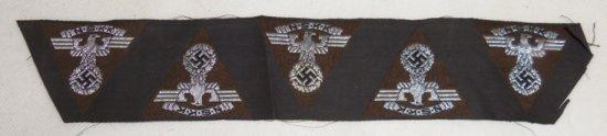 WW2 German NSKK Uncut Cap Insignia Strip