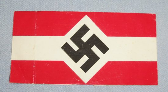 "Scarce Variant Hitler Youth ""Oil Cloth"" Arm Band"