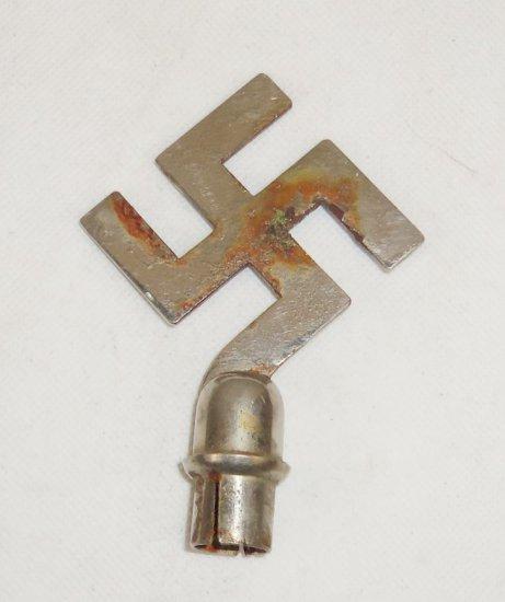 Nazi Flag Swastika Pole Top