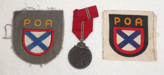 4 pcs.  Eastern Front Medal/POA Patches