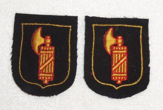2 pcs. WW2 German Italian SS Volunteer Sleeve Shield