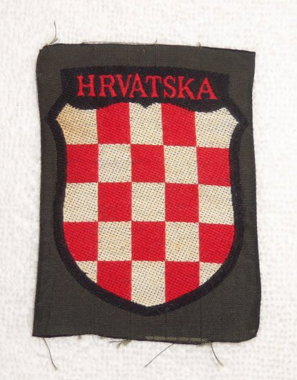 "WWII German Croatian Volunteers ""Hrvatska"" Patch"