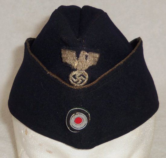 WWII Kriegsmarine Administration Officer's Overseas Cap