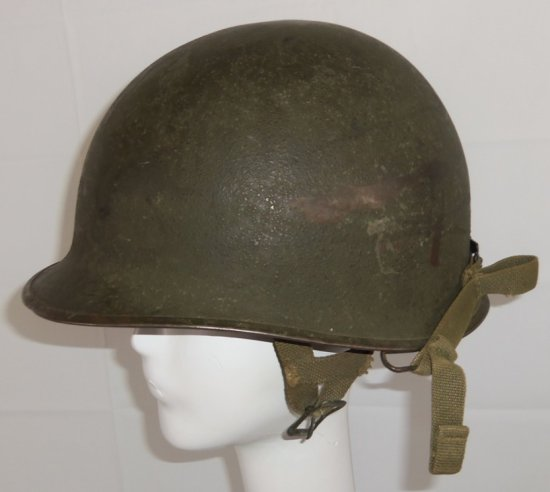 WW2 Normandy Period M1C Airborne Helmet With Jump Liner