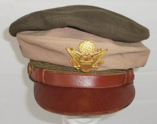 Rare WW2 US Officer's Theater Made Visor Cap-Sydney Australia Tailor