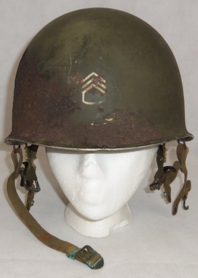 Rare WW2 US Airborne/Paratrooper M1 D-Bale Helmet With Westinghouse Jump Liner
