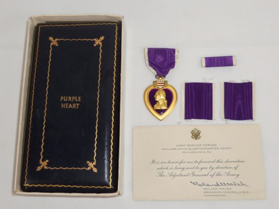 97th Infantry Division/386th Regiment Soldier KIA Engraved Purple Heart