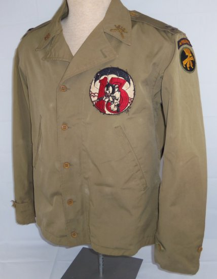 WWII M41 Field Jacket-17th Airborne/513th PIR With Officer's 513th Collar Insignia