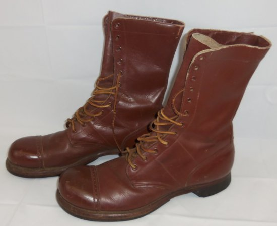 Scarce Large Size WWII US Paratrooper Jump Boots-Corcoran-Size 11B