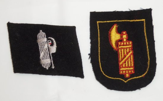 2 pcs. Waffen SS Italian Volunteer Insignia