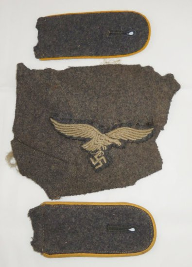4 pcs. Uniform Removed Luftwaffe Insignia for EM
