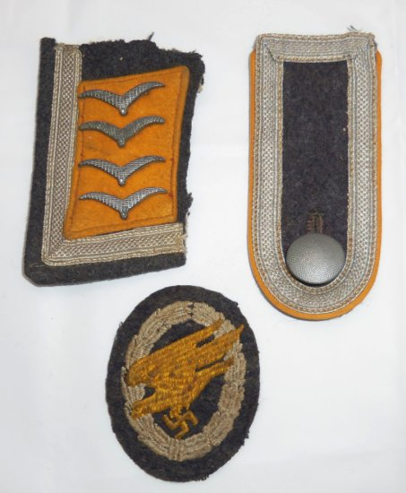 3 pcs. Luftwaffe Paratrooper Tunic Removed Insignia