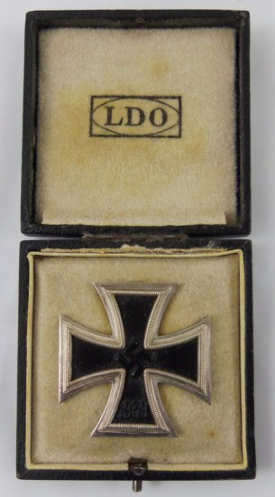 WW2 Iron Cross 1st Class - With LDO Case-Deumer