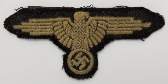 Early Waffen SS Arm Eagle for EM-Uniform Removed