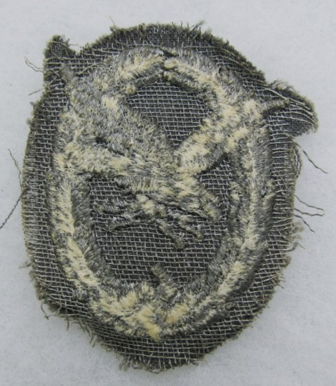 Scarce Luftwaffe Air Gunner/Radio Operator Embroidered Badge-For The Blue Flight Suit