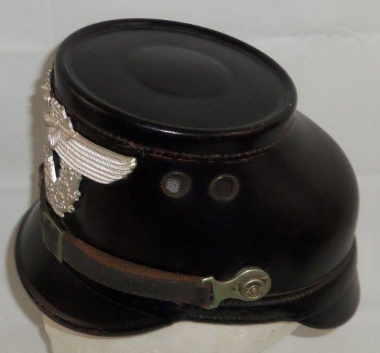 """WW1/WW2 German Police Black """"Hilfspolizei"""" Conversion Shako"""