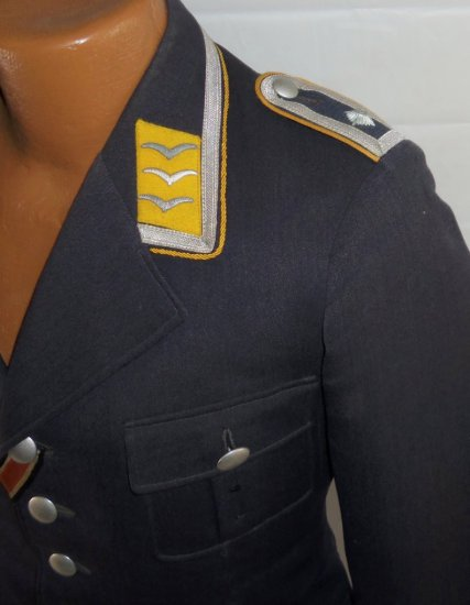 """Early Luftwaffe NCO Tunic-""""Kampf Geschwader 4-General Wever"""" Bomb Wing-Cuff Title-Bullion Eagle"""