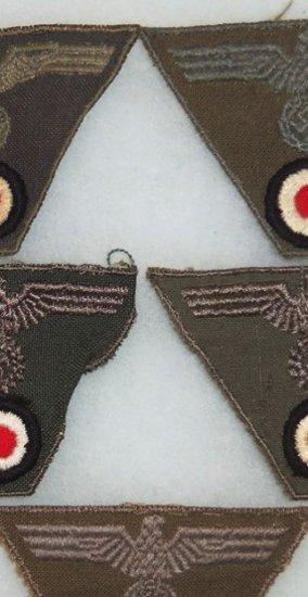 5 pcs. Late War M-43 Trapezoid Insignia