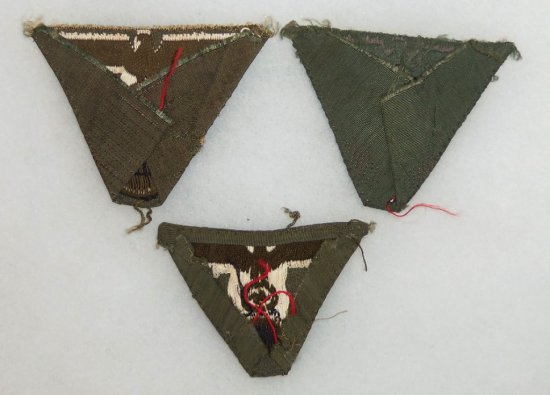 3 pcs. WW2 German M-43 Trapezoid Cap Eagles