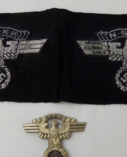 2 pcs. NSKK Sleeve/Cap Eagles/Cap Badge
