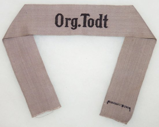 WW2 German Organisation Todt Cuff Title For Lower ranks