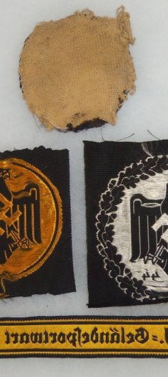 4 pcs. WWII German Sports Eagle Award Patches/HJ Sports Cuff Title