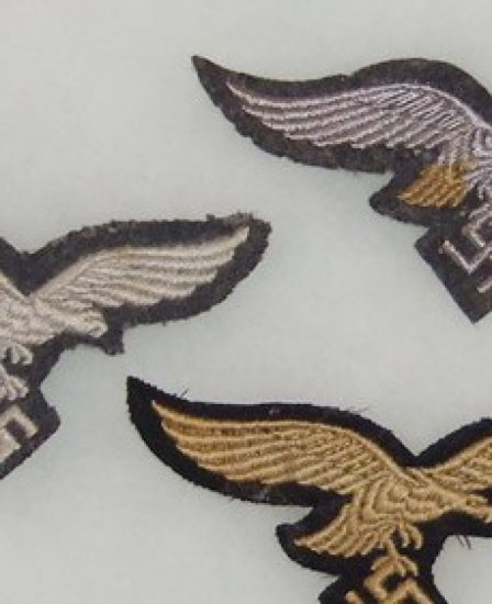 3 pcs. Luftwaffe Breast Eagles-Hermann Goring Etc.