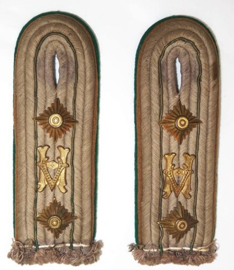 WWII German Wehrmachtbeamte Officer's Shoulder Boards