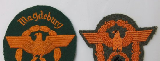 2 pcs. WW2 German Gendarmerie Sleeve Eagles