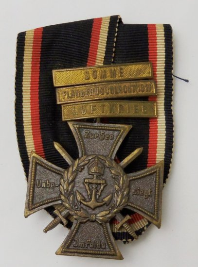 Imperial German Honor and Remembrance Cross of Navy Corps Flanders
