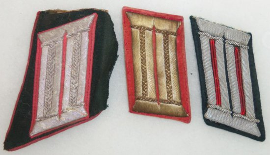 3 pcs.  WWII German Army Collar Tabs