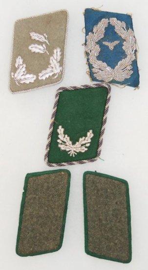 5 pcs. WW2 German Misc. Collar Tabs