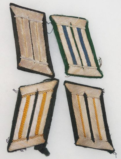 4 pcs. WW2 German Heer Officer's Collar Tabs