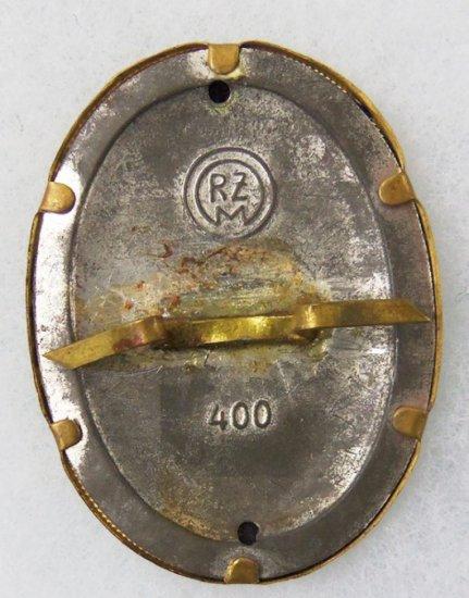 WWII German DAF Cap Badge